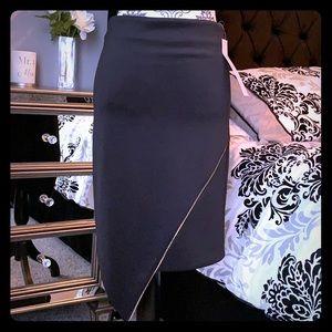 Midi skirt with gold chain design